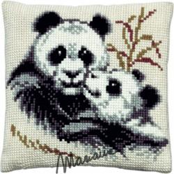 Kussen Panda met jong